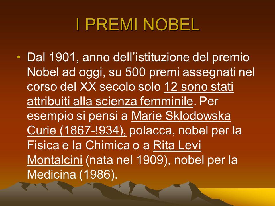 I PREMI NOBEL