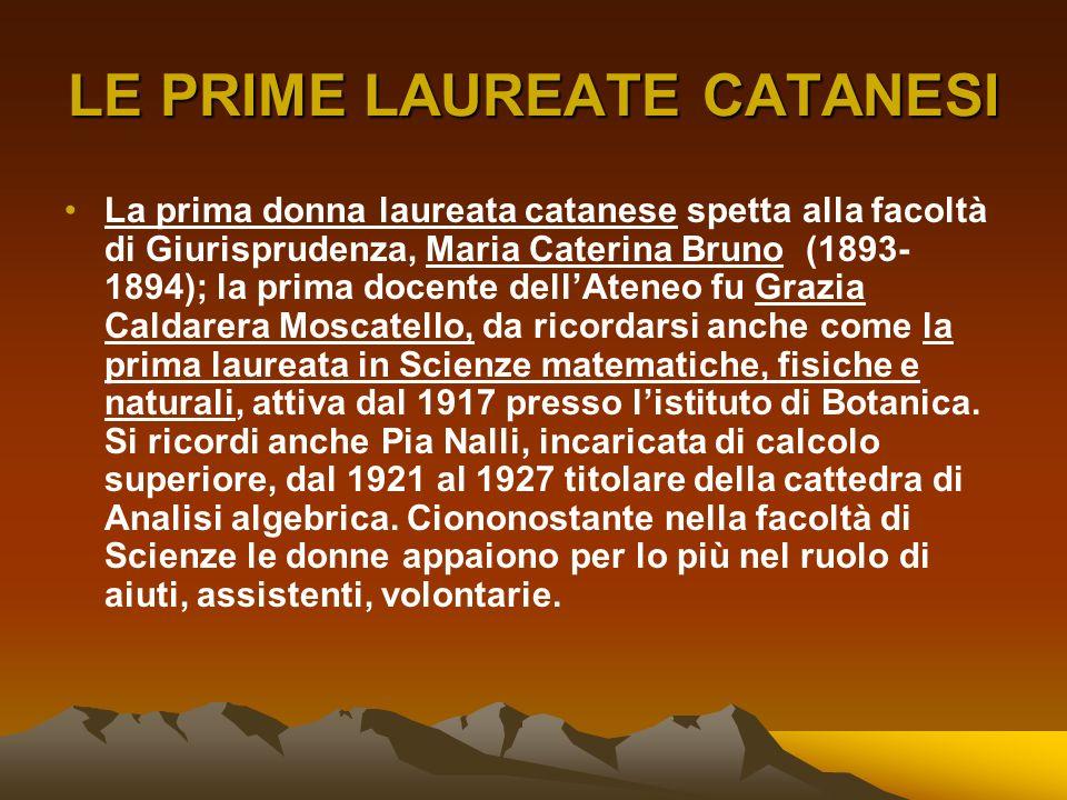 LE PRIME LAUREATE CATANESI