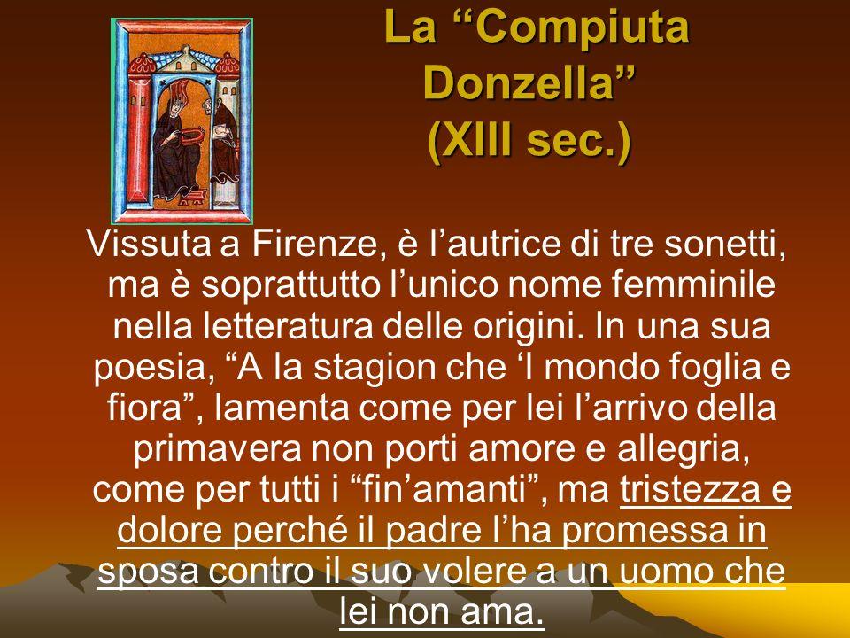 La Compiuta Donzella (XIII sec.)