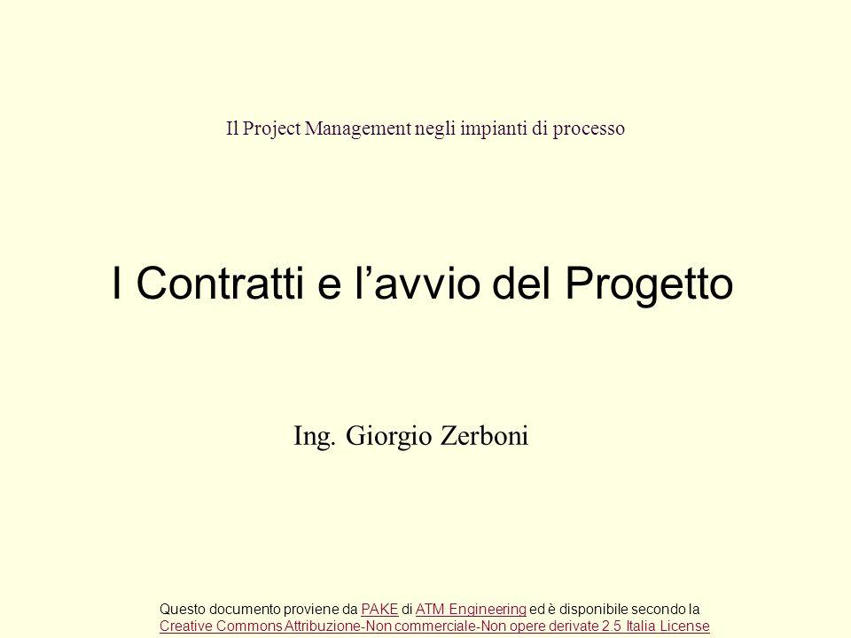 Il Project Management negli impianti di processo