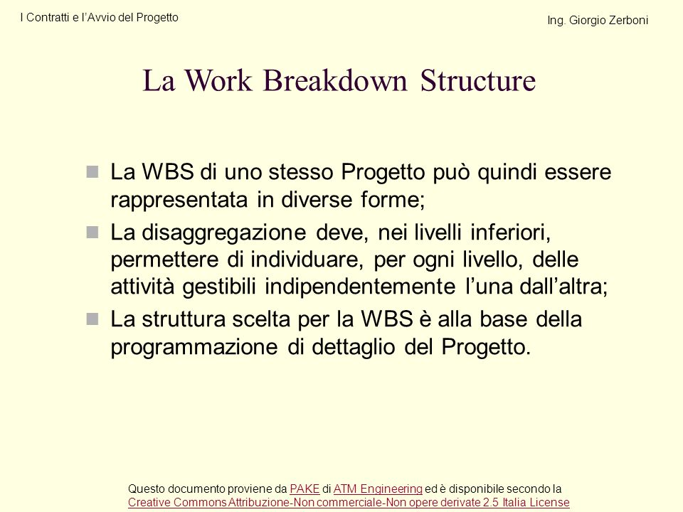 La Work Breakdown Structure