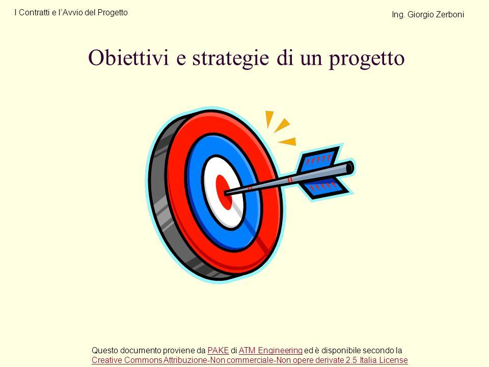 Obiettivi e strategie di un progetto