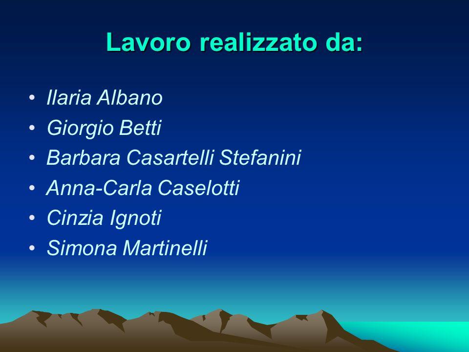 Lavoro realizzato da: Ilaria Albano Giorgio Betti