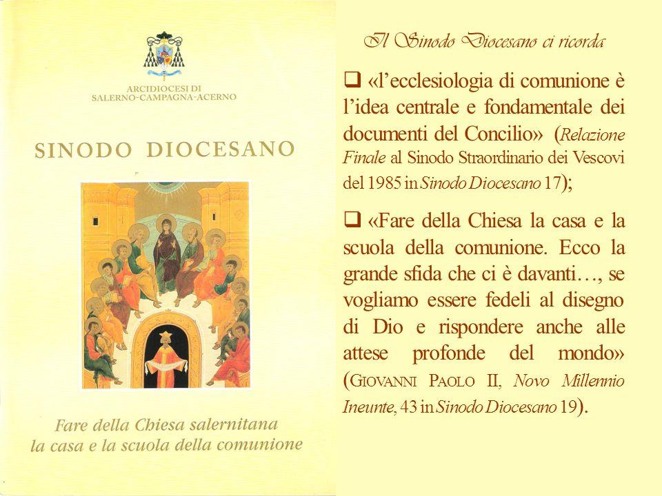 Il Sinodo Diocesano ci ricorda