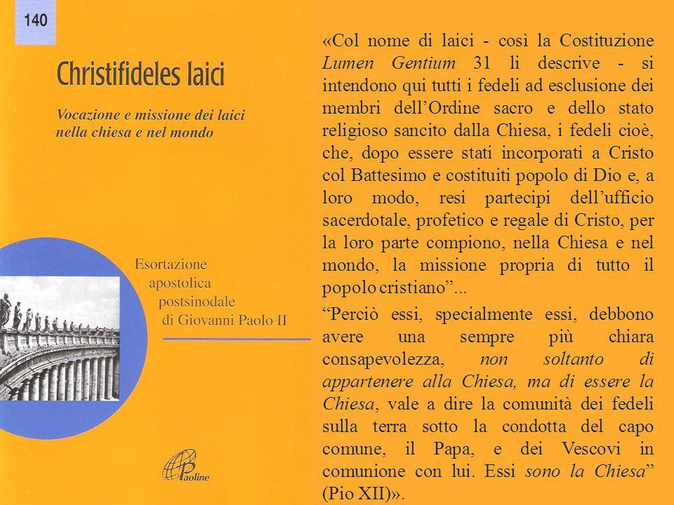 (GIOVANNI PAOLO II, Christifideles laici, 9)