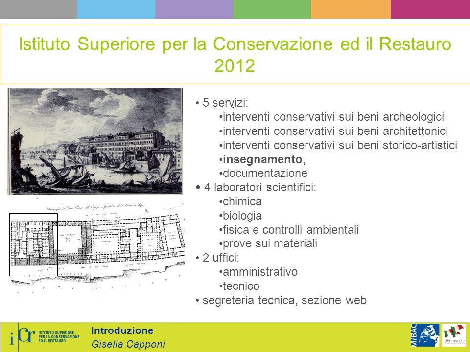 Istituto Superiore per la Conservazione ed il Restauro 2012