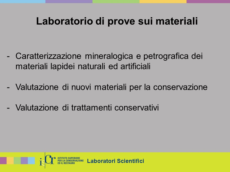 Laboratorio di prove sui materiali