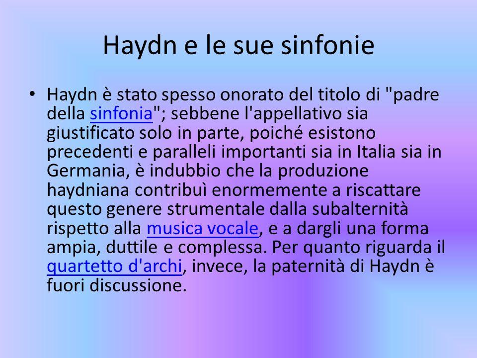 Haydn e le sue sinfonie