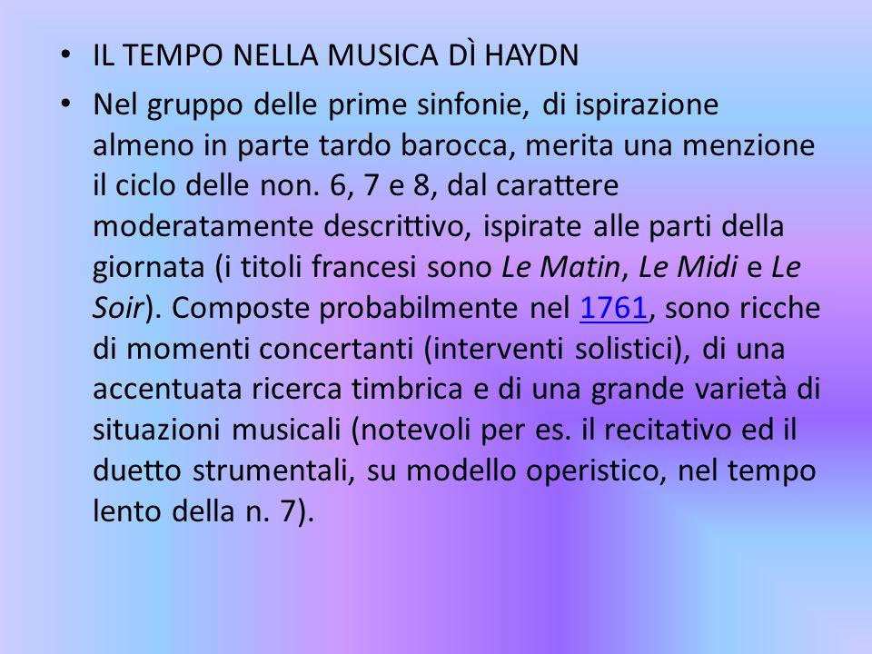IL TEMPO NELLA MUSICA DÌ HAYDN
