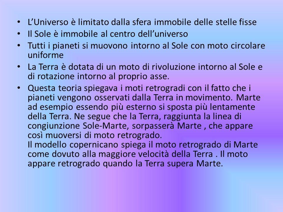 L'Universo è limitato dalla sfera immobile delle stelle fisse