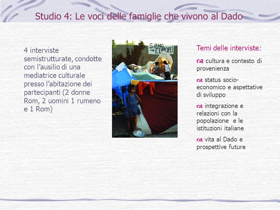 Studio 4: Le voci delle famiglie che vivono al Dado