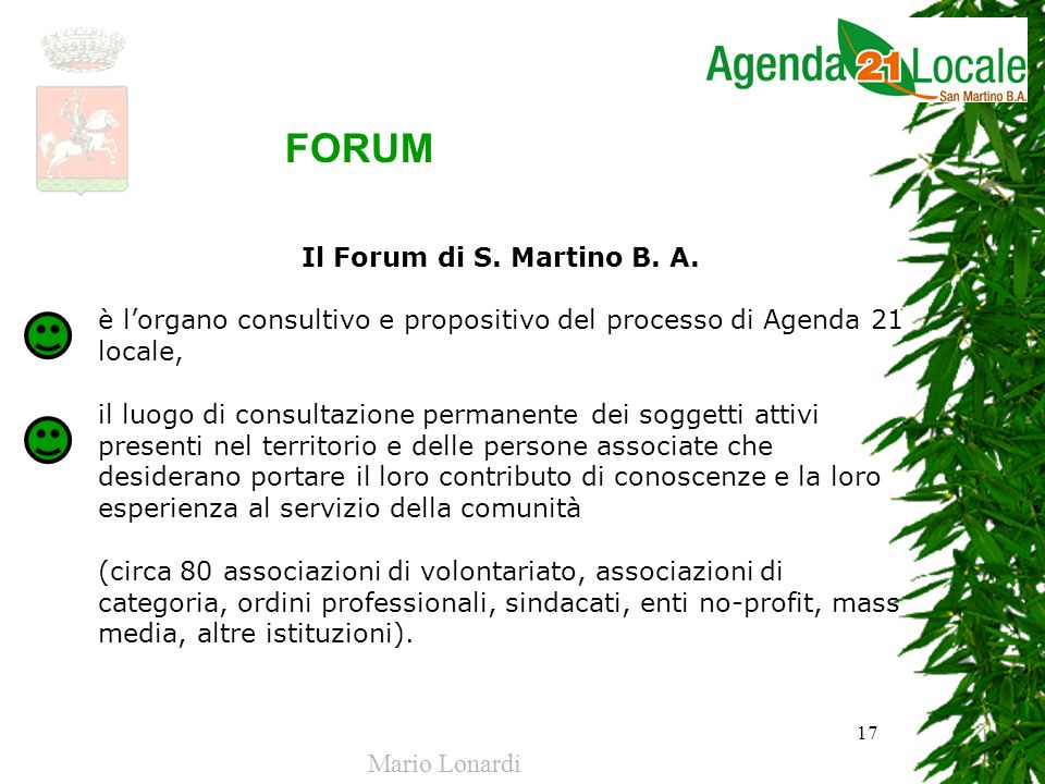 FORUM Il Forum di S. Martino B. A.