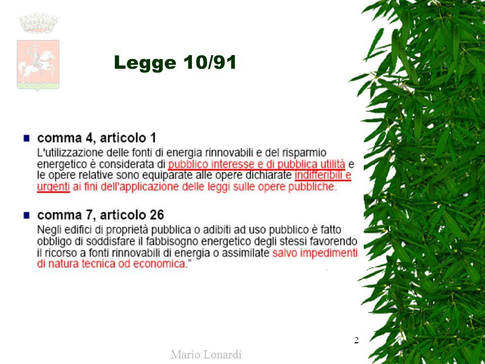 Legge 10/91 Mario Lonardi