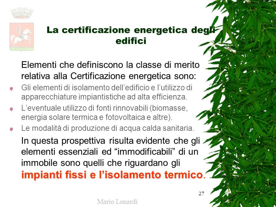 La certificazione energetica degli edifici