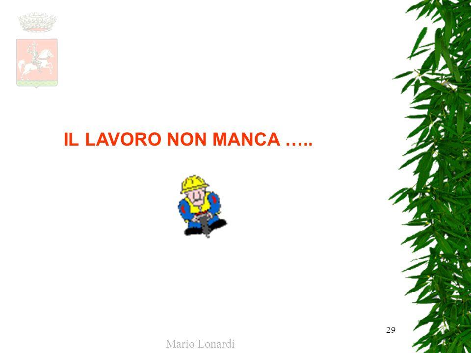 IL LAVORO NON MANCA ….. Mario Lonardi