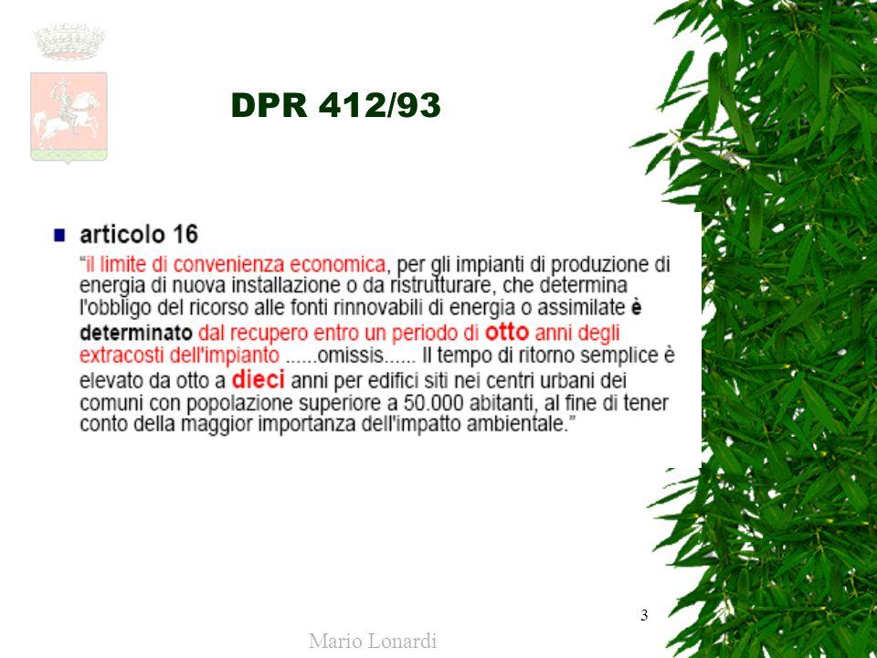 DPR 412/93 Mario Lonardi