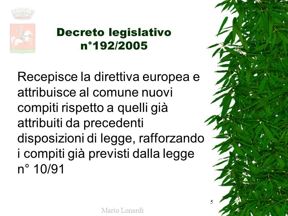 Decreto legislativo n°192/2005