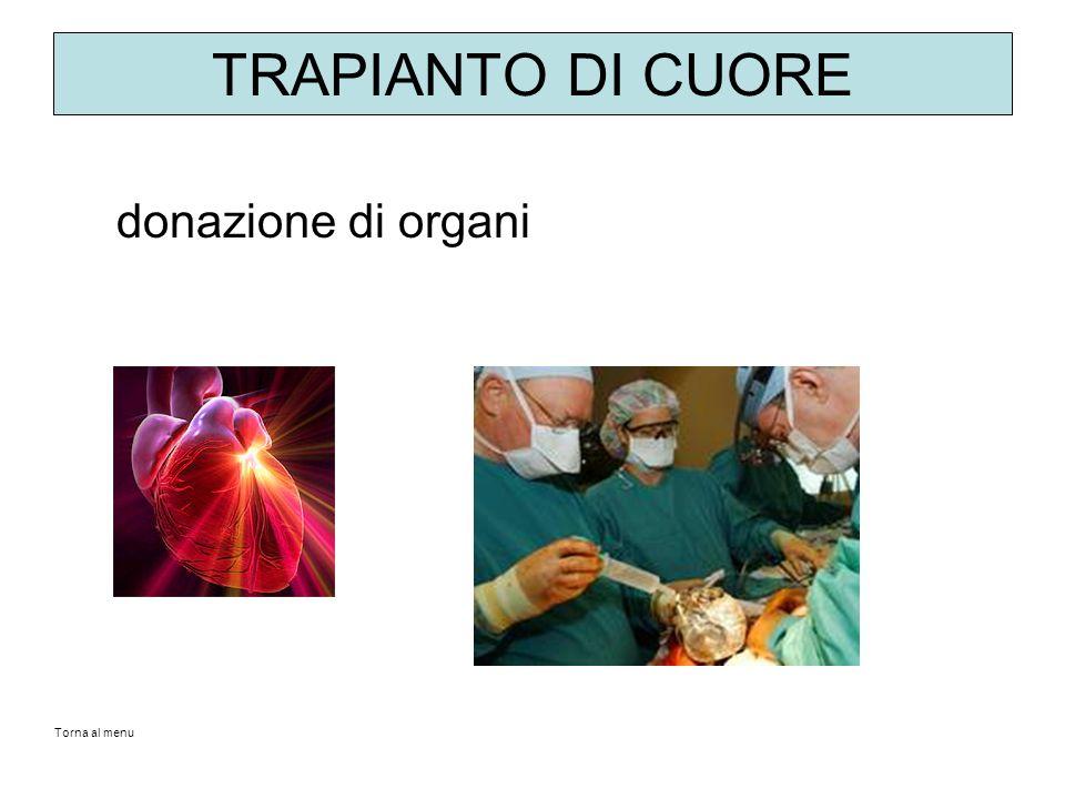 TRAPIANTO DI CUORE donazione di organi Torna al menu
