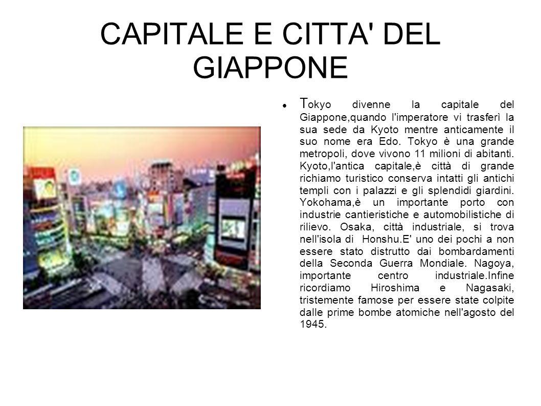 CAPITALE E CITTA DEL GIAPPONE