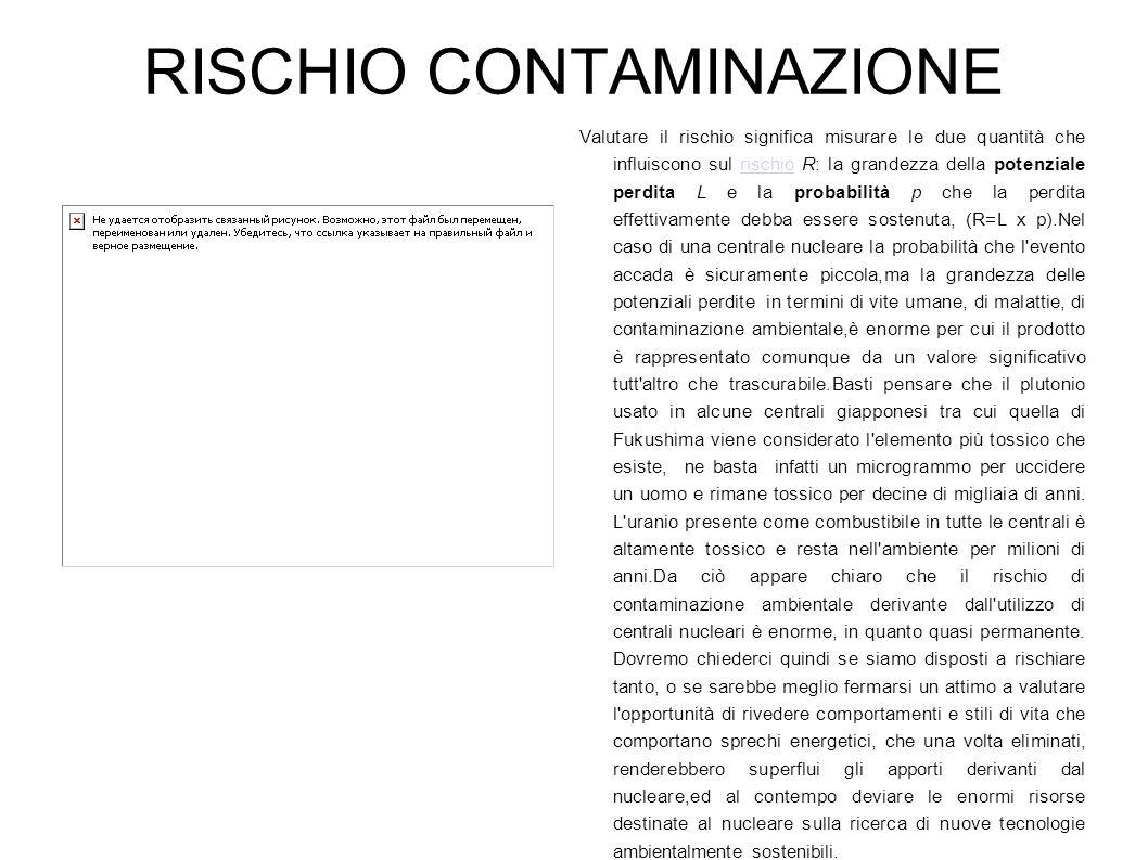 RISCHIO CONTAMINAZIONE