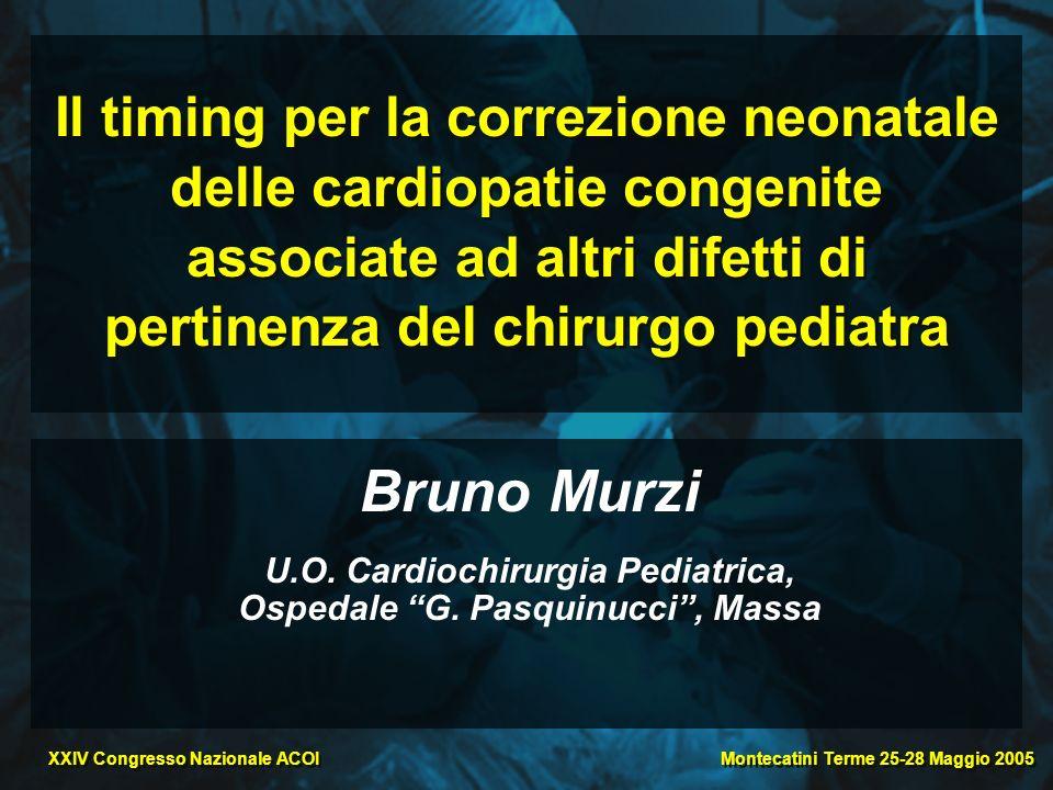 U.O. Cardiochirurgia Pediatrica, Ospedale G. Pasquinucci , Massa