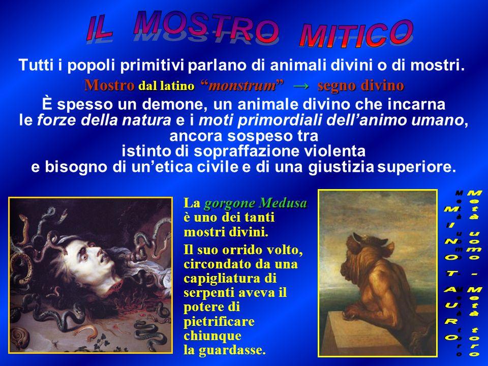 Mostro dal latino monstrum → segno divino