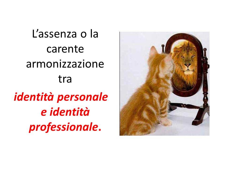 identità personale e identità professionale.