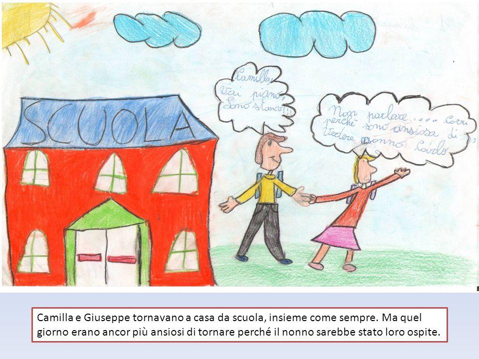 Camilla e Giuseppe tornavano a casa da scuola, insieme come sempre