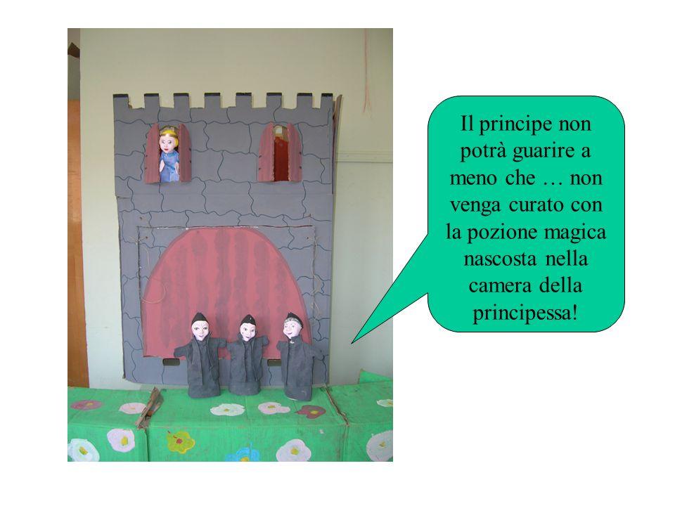 Il principe non potrà guarire a meno che … non venga curato con la pozione magica nascosta nella camera della principessa!