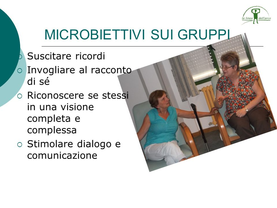 MICROBIETTIVI SUI GRUPPI