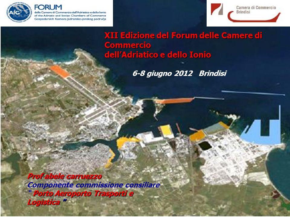 XII Edizione del Forum delle Camere di Commercio dell'Adriatico e dello Ionio 6-8 giugno 2012 Brindisi