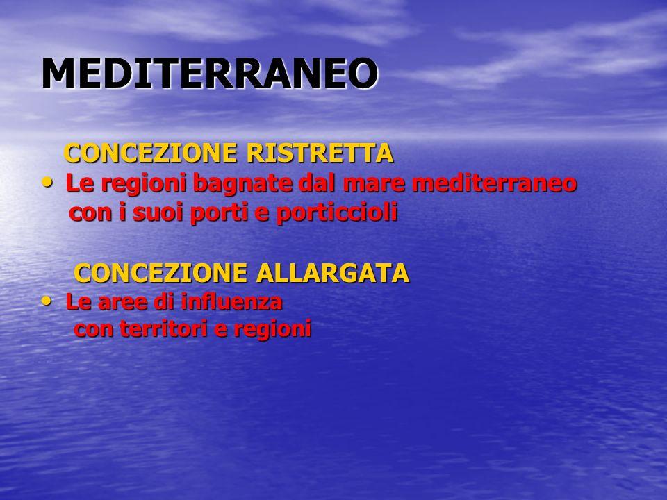 MEDITERRANEO CONCEZIONE RISTRETTA CONCEZIONE ALLARGATA