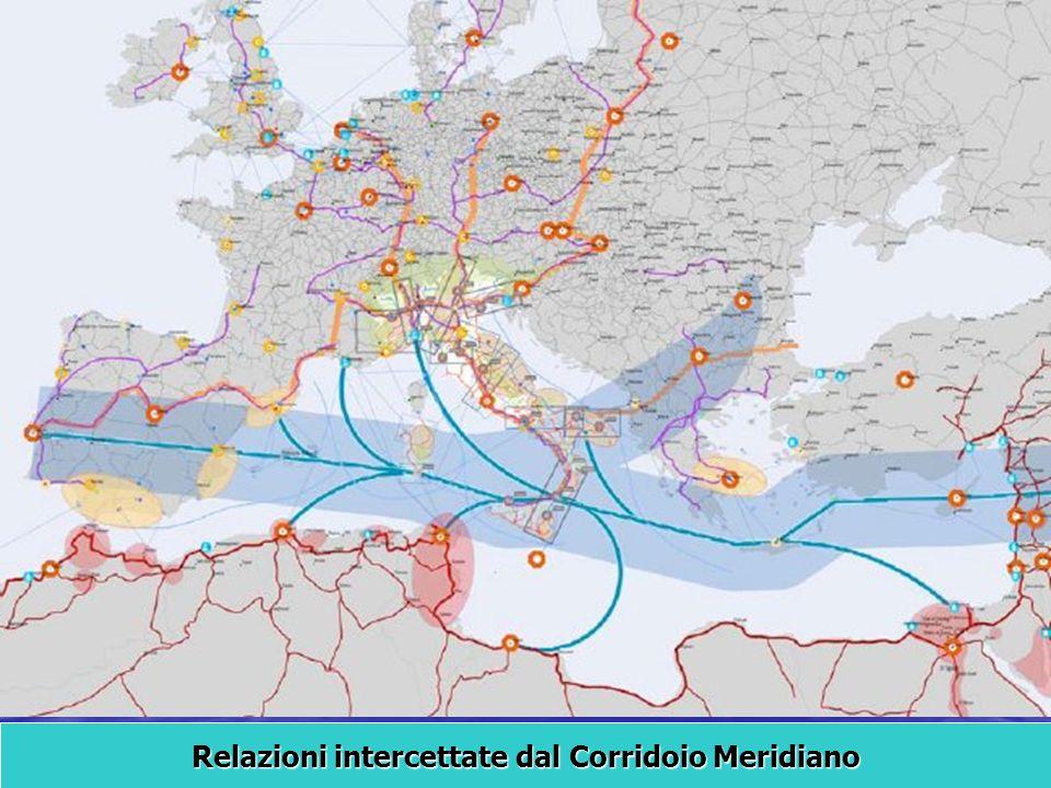 Relazioni intercettate dal Corridoio Meridiano
