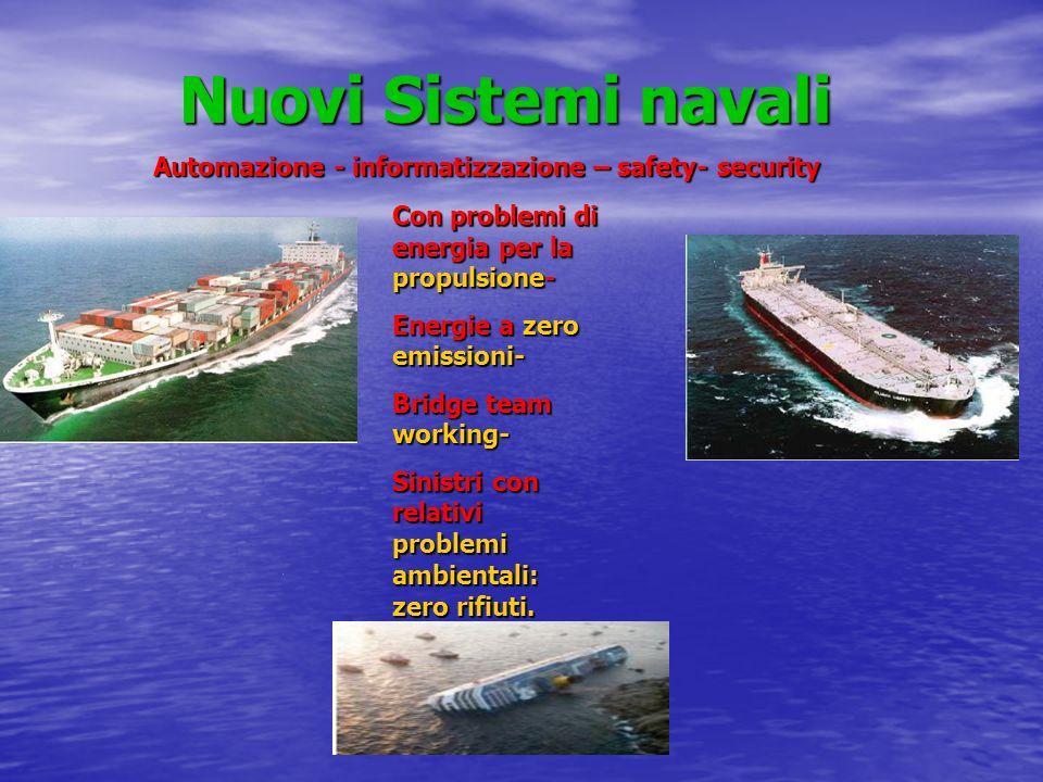 Nuovi Sistemi navali Automazione - informatizzazione – safety- security. Con problemi di energia per la propulsione-