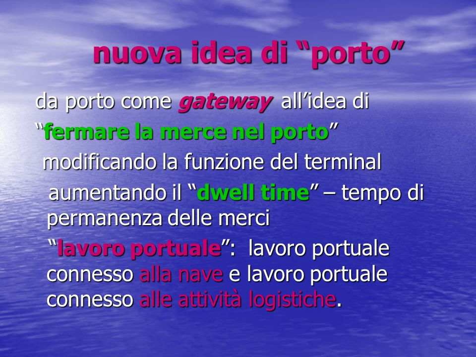 nuova idea di porto da porto come gateway all'idea di