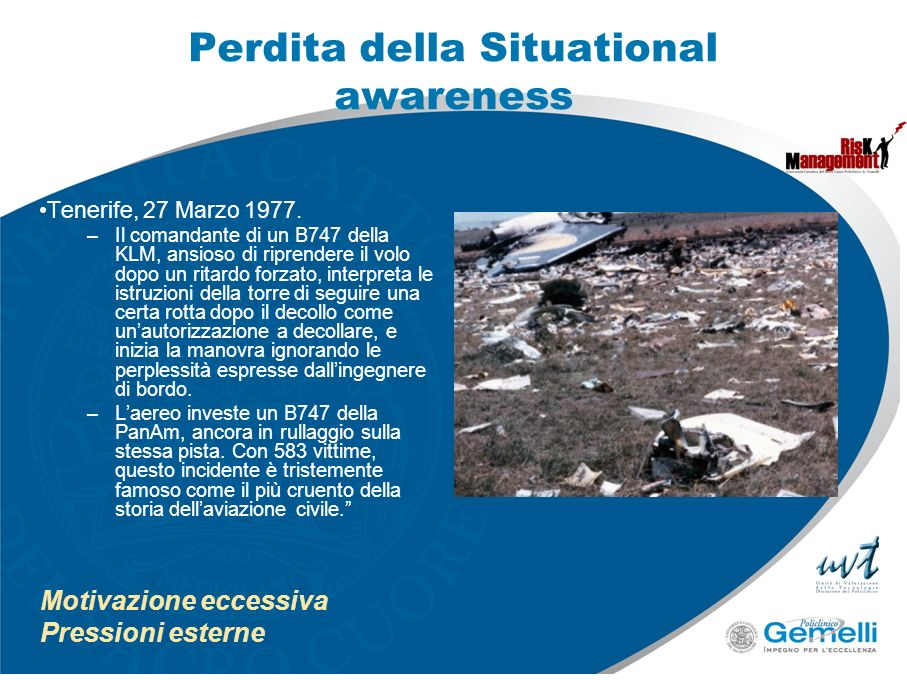 Perdita della Situational awareness