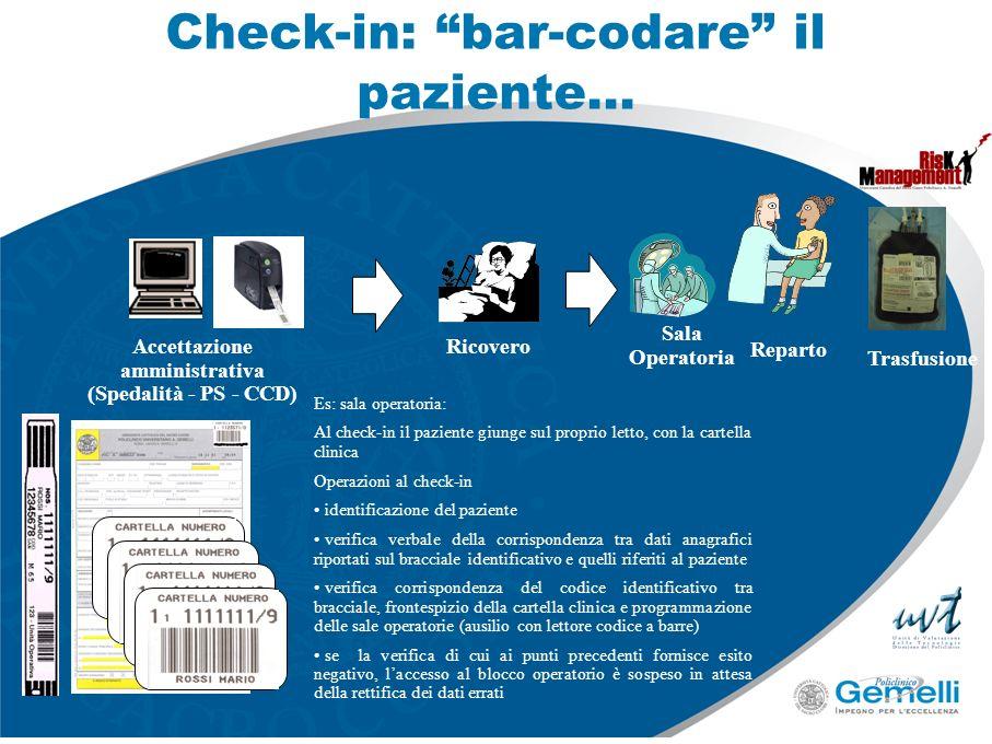 Check-in: bar-codare il paziente…