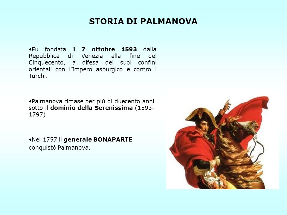 STORIA DI PALMANOVA