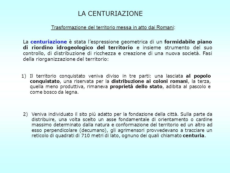 Trasformazione del territorio messa in atto dai Romani: