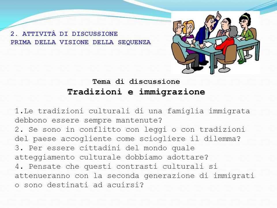 Tradizioni e immigrazione