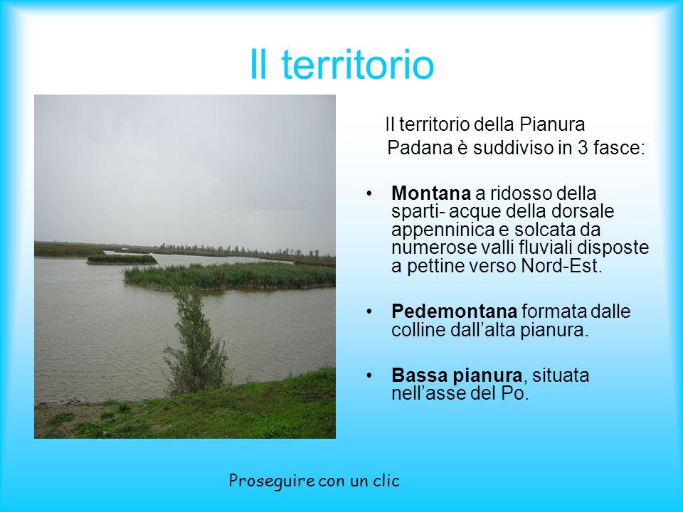 Il territorio Padana è suddiviso in 3 fasce: