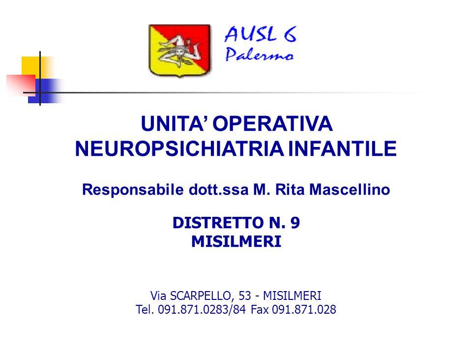 UNITA' OPERATIVA NEUROPSICHIATRIA INFANTILE