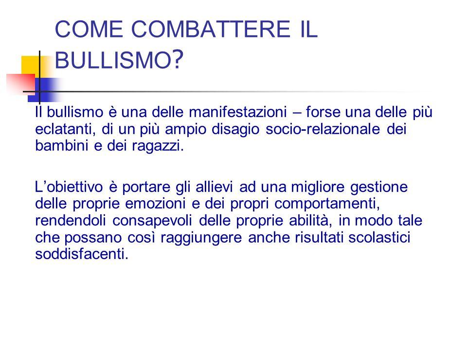 COME COMBATTERE IL BULLISMO