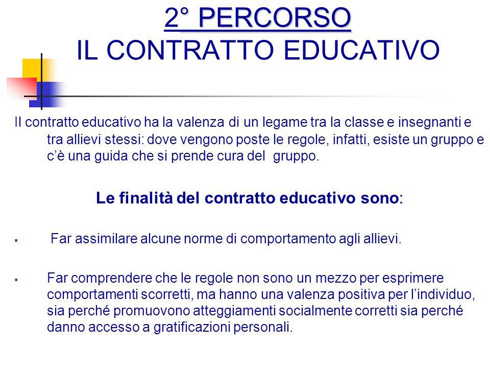 2° PERCORSO IL CONTRATTO EDUCATIVO
