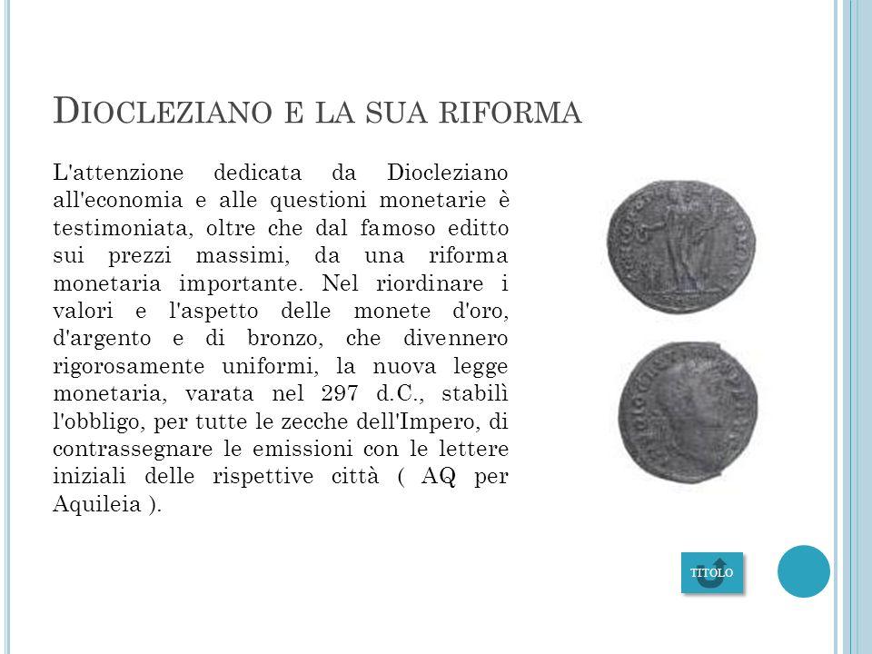 Diocleziano e la sua riforma
