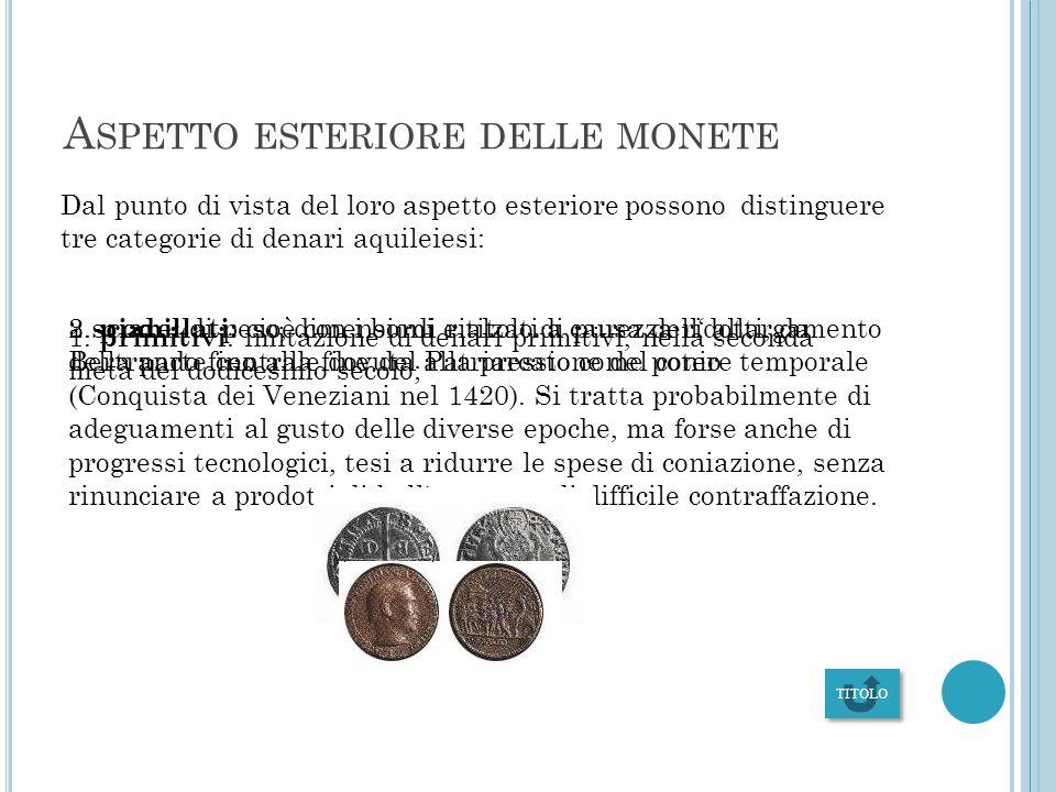 Aspetto esteriore delle monete