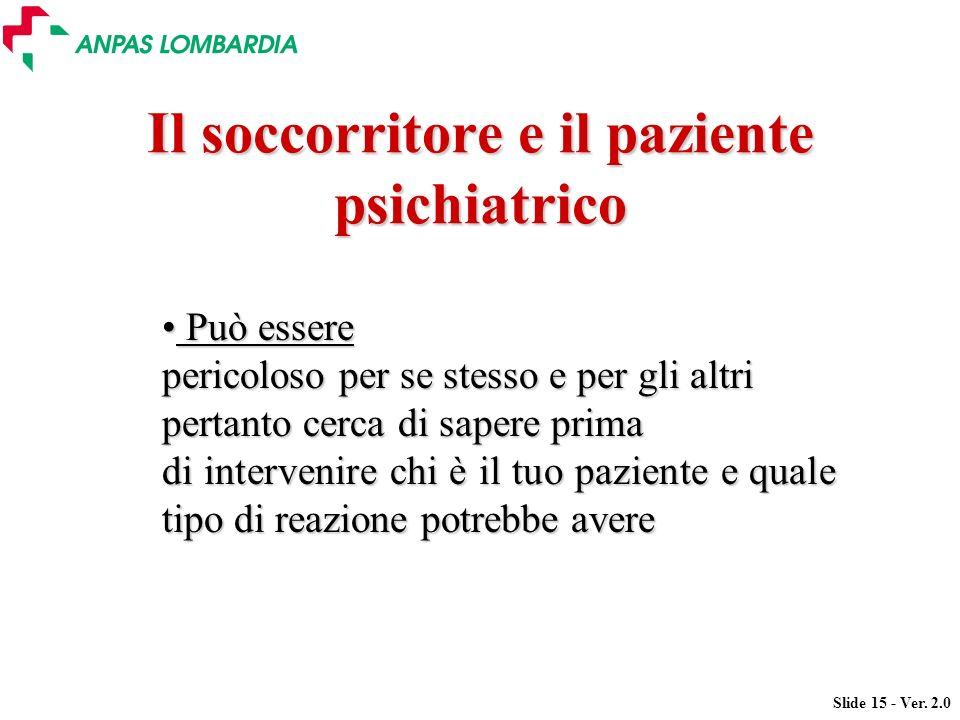 Il soccorritore e il paziente psichiatrico