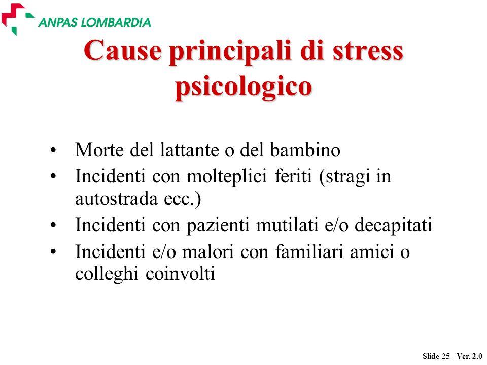 Cause principali di stress psicologico