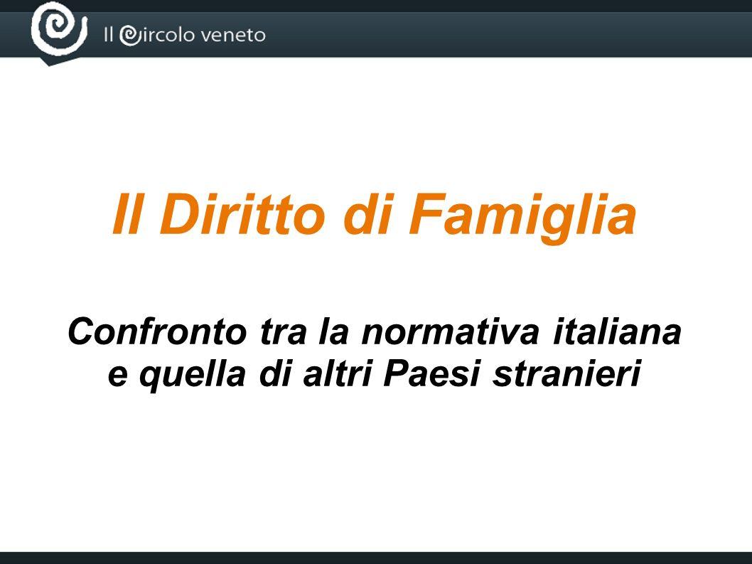 Confronto tra la normativa italiana e quella di altri Paesi stranieri
