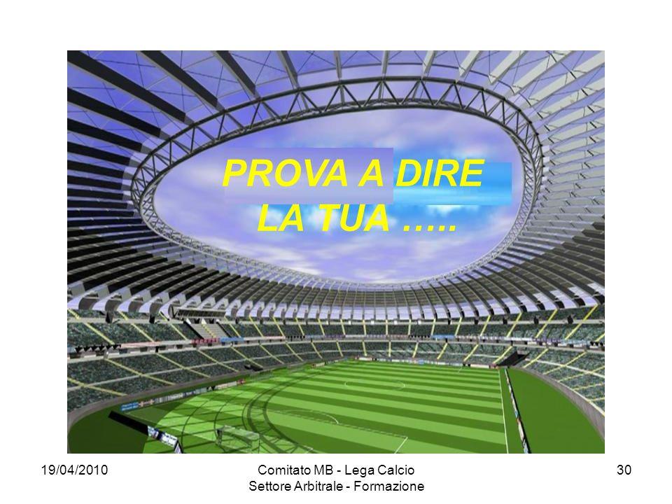 Comitato MB - Lega Calcio Settore Arbitrale - Formazione
